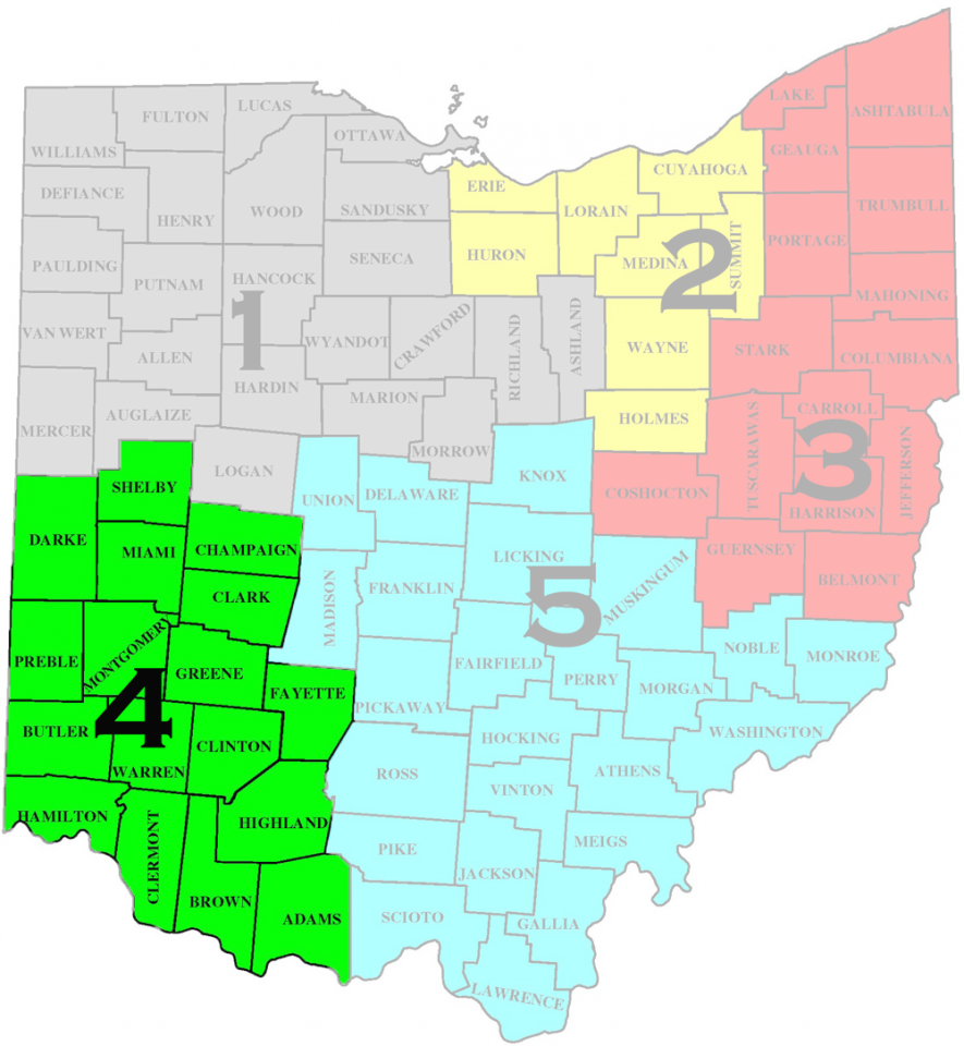 Map of South West Ohio District-4