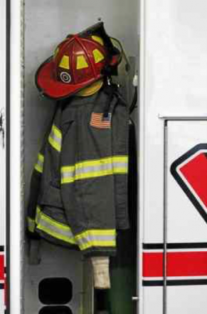 Fire coat in locker